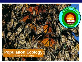 Population Ecology (adapted from K. Foglia)