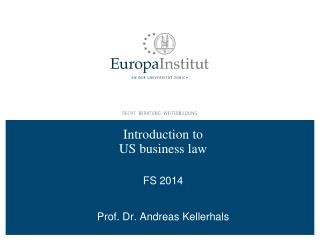 Introduction to  US business law