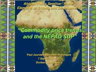 African Policy Seminar: Fiscal Elements of Growth and Development