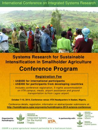 Systems Research for Sustainable Intensification in Smallholder Agriculture