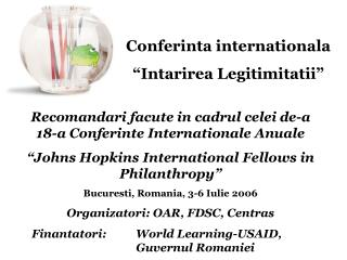 "Conferinta internationala  ""Intarirea Legitimitatii"""