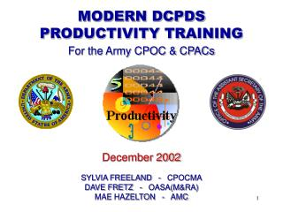 MODERN DCPDS PRODUCTIVITY TRAINING