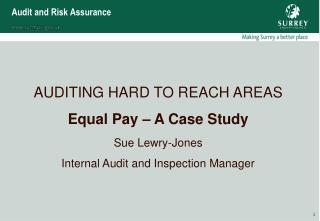 Audit and Risk Assurance