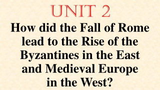 7.1 The Fall of Rome