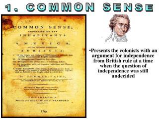 1. COMMON SENSE