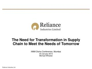 The Need for Transformation in Supply Chain to Meet the Needs of Tomorrow