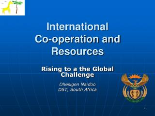 International Co-operation and Resources
