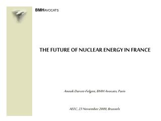 THE FUTURE OF NUCLEAR ENERGY IN FRANCE