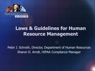 Laws & Guidelines for Human Resource Management