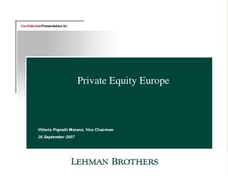Private Equity Europe