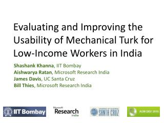 Evaluating and Improving the Usability of Mechanical Turk for Low-Income Workers in India