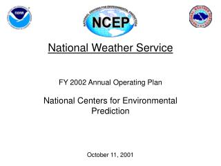 National Weather Service FY 2002 Annual Operating Plan