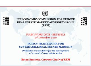 UN ECONOMIC COMMISSION FOR EUROPE   REAL ESTATE MARKET ADVISORY GROUP  (REM)