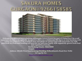 Sakura Homes Gurgaon@9266158585