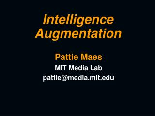 Intelligence Augmentation