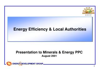 Energy Efficiency & Local Authorities