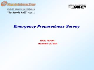 Emergency Preparedness Survey