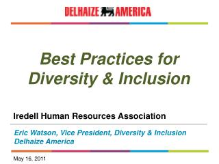 Best Practices for Diversity & Inclusion