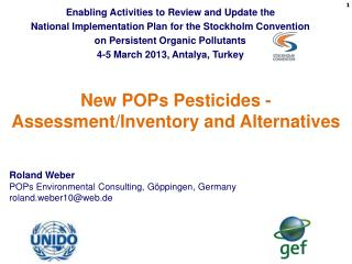 New POPs Pesticides - Assessment/Inventory and Alternatives