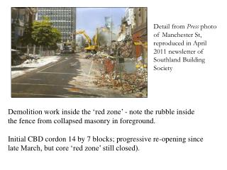 Detail from  Press  photo of Manchester St,  reproduced in April  2011 newsletter of