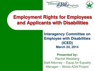 Employment Rights for Employees and Applicants with Disabilities