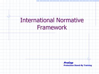 International Normative Framework