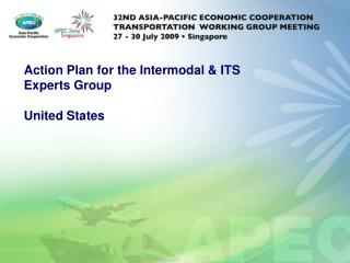 Action Plan for the Intermodal & ITS Experts Group United States