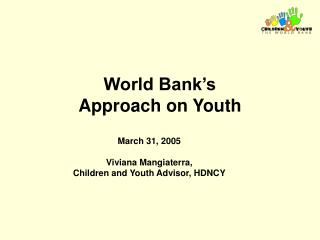 World Bank's  Approach on Youth