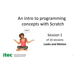 An intro to programming       concepts with Scratch