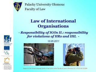 Law of International Organisations