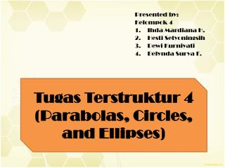 Tugas  Terstruktur  4 (P arabolas ,  Circles , and  Ellipses )