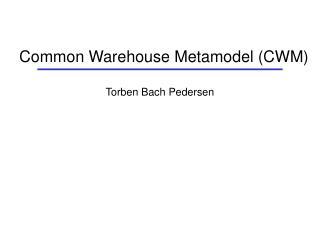 Common Warehouse Metamodel (CWM)