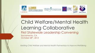 Building Child Welfare and Mental Health Partnerships to Improve Well-Being
