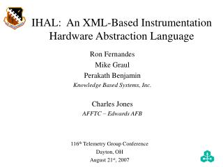 IHAL:  An XML-Based Instrumentation Hardware Abstraction Language