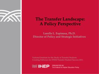 The Transfer Landscape: A Policy Perspective
