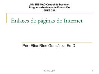 Enlaces de páginas de Internet