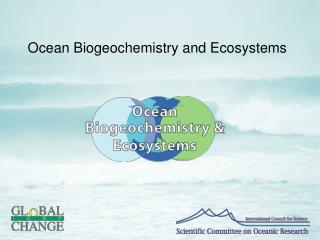 Ocean Biogeochemistry and Ecosystems