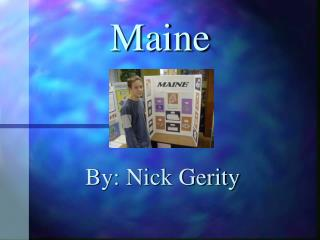 Maine PowerPoint Presentation