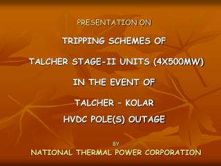 BY NATIONAL THERMAL POWER CORPORATION