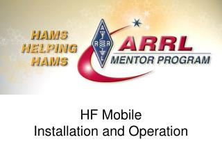 HF Mobile  Installation and Operation