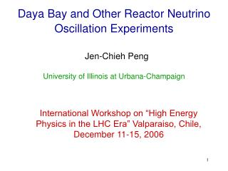Daya Bay and Other Reactor Neutrino Oscillation Experiments