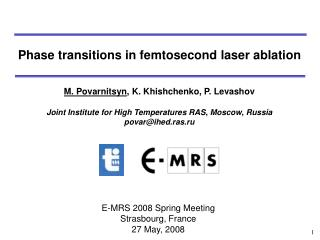 Phase transitions in femtosecond laser ablation