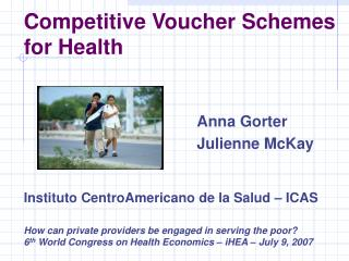Competitive Voucher Schemes for Health