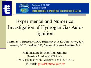 Experimental and Numerical Investigation of Hydrogen Gas Auto-ignition