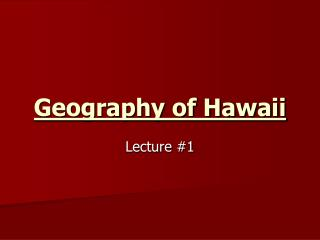 Geography of Hawaii