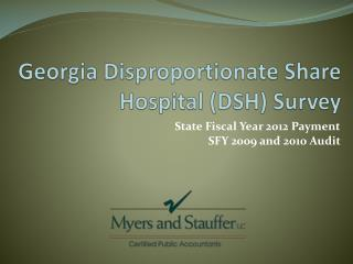 Georgia Disproportionate Share Hospital (DSH) Survey