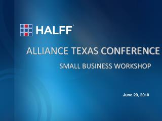 ALLIANCE TEXAS CONFERENCE