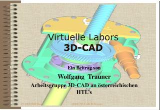 Virtuelle Labors 3D-CAD