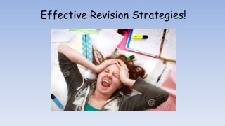 Effective Revision Strategies