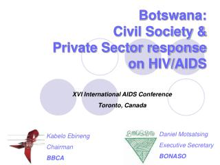 Botswana: Civil Society &  Private Sector response  on HIV/AIDS